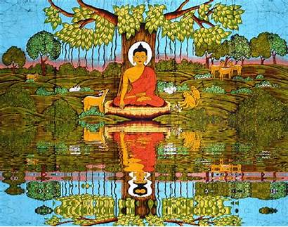 Buddha Gifs Meditation Animated Wesak Buddhism Inner