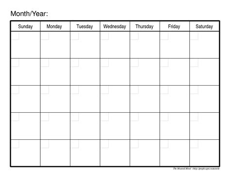 monthly calendar template organizing monthly calendar