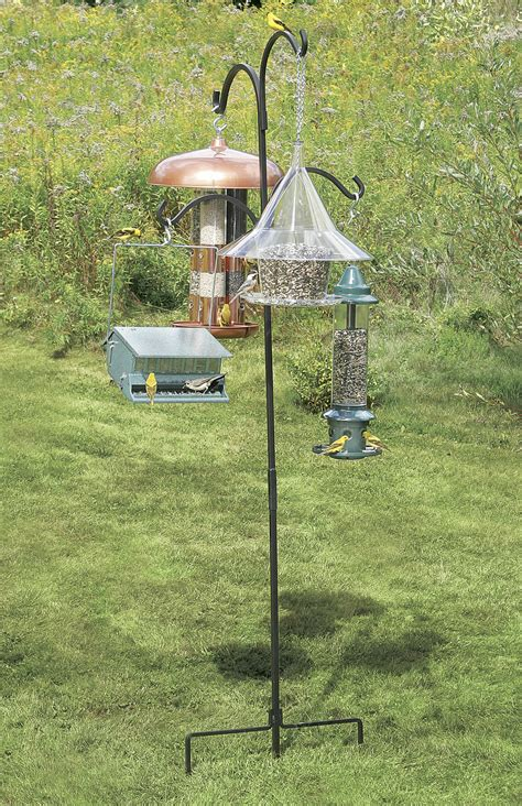 telescoping bird feeder pole system unique bird feeder
