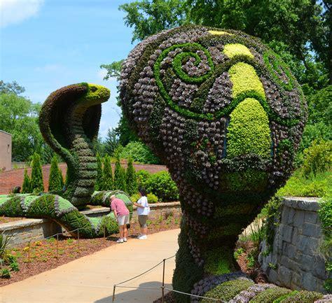atlanta botanical garden living sculptures at atlanta botanical gardens