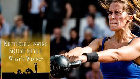 kettlebell caveman cavemantraining swing squat exercise right kettlebells
