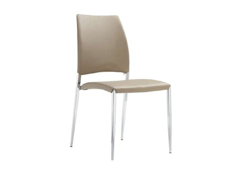 taupe eco leather dining chair by casabianca home