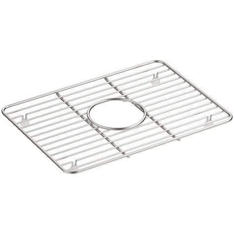 stainless steel sink rack kohler cairn 10 375 in x 14 25 in stainless steel