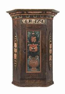 wall cabinet corner sweden folk art 1780 hangskap With kitchen cabinets lowes with folk art wall hangings