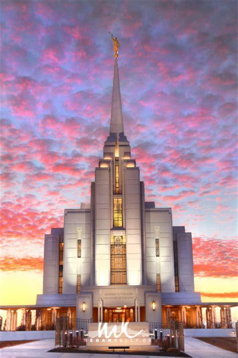 rexburg lds temple  sunset megan kelly photodesign