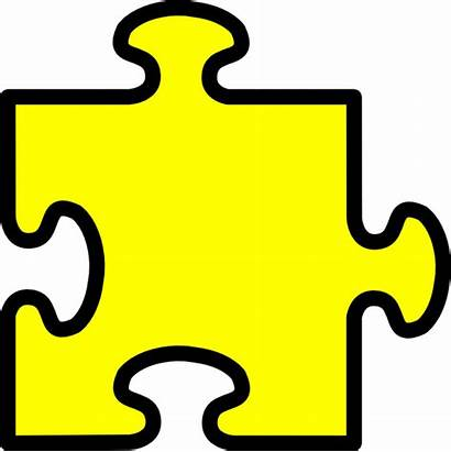 Puzzle Piece Yellow Clip Clker Clipart