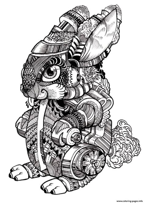 Coloring Pages Print Adult Difficult Rabbit Coloring Pages Free Mandala Coloring Pages For
