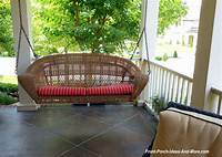 wicker porch swings Wicker Porch Swings - Always Refined, Reminiscent and Romantic