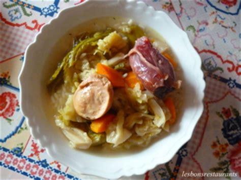 recette de potee au chou pot 233 e de chou au riz recette iterroir