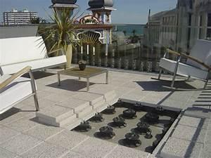 Dalle Sur Plots : terrasse dalles sur plots prix conseils pour bien la poser ~ Farleysfitness.com Idées de Décoration