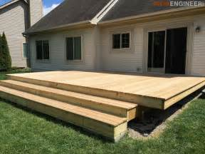 12x12 Platform Deck Plans by How To Build A Floating Deck 187 Rogue Engineer