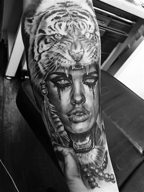 ryantownsend:tiger-spirit-tiger-tiger-tattoo-black-and