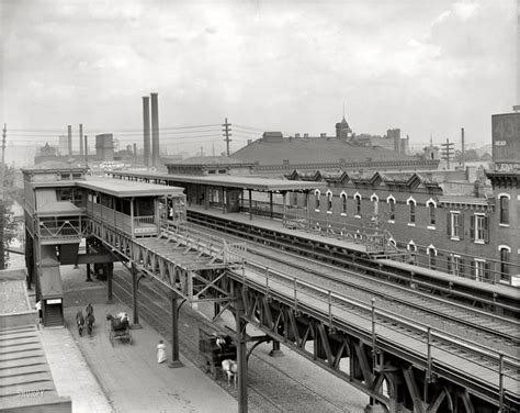 Old Boat In Philadelphia by 1905 Elevated Train Station At 36th Market Sts Old
