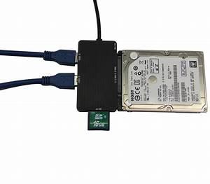Sd To Hdd : 2015 usb 3 0 to sata 3 0 iii 2 sd tf hub adapter card ~ Jslefanu.com Haus und Dekorationen