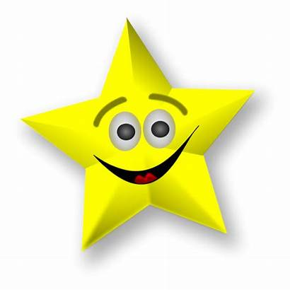 Star Gold Clipart Smiling Stars Animated Graphics
