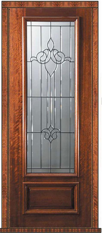 prehung single door  wood mahogany arlington  panel