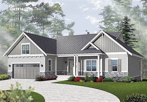 plan dr airy craftsman style ranch   home