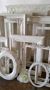 Ensemble Cadre Photo : ensemble cadre photo blanc antique de 12 cadres par sealoveandsalt miroirs pinterest cadre ~ Teatrodelosmanantiales.com Idées de Décoration
