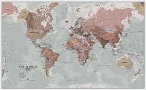 Executive World Wall Map Political