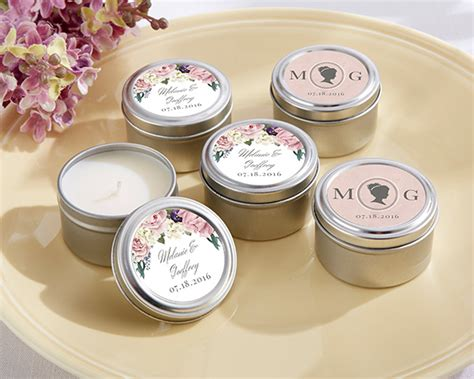 Personalized English Garden Travel Candle My Wedding Favors