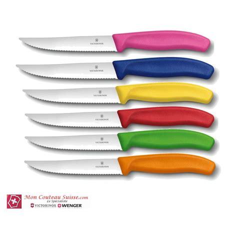 couteaux victorinox cuisine coffret de 6 couteaux à pizza victorinox