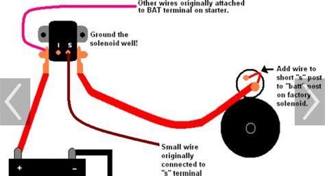 wire remote solenoid  gear reduction starter