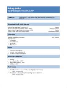 exles of resumes for teenagers 12 free high school student resume exles for