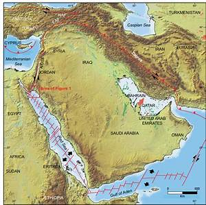 Tectonic Framework Of The Arabian Plate  Modified From