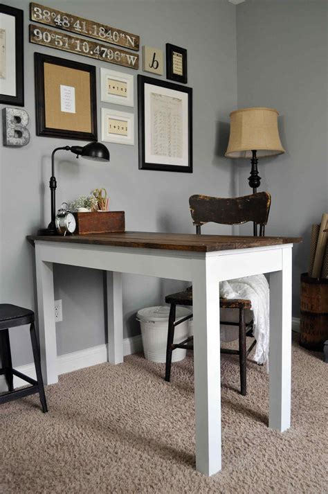 farmhouse style desk the images collection of computer made style by