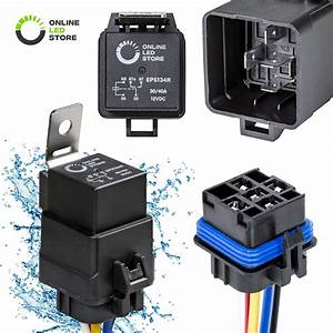 40  30 Amp Waterproof Relay Switch Harness Set 12v Dc 5