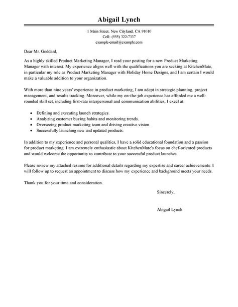 How To Write A Marketing Cover Letter by Amazing Product Marketer Cover Letter Exles Templates