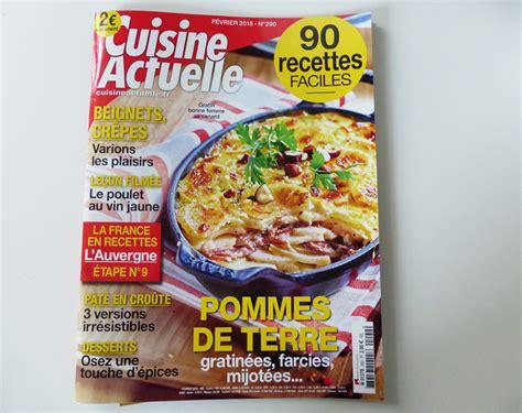 le magazine cuisine actuelle met à la une nos amies elise