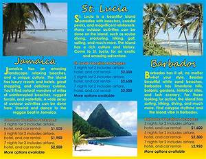 Caribbean island travel brochure project on behance for How to make a travel brochure