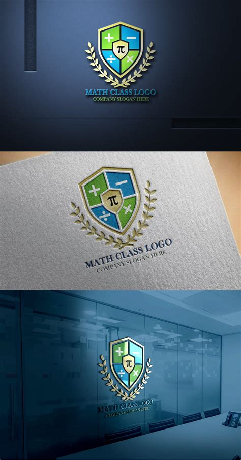 math tutorial logo design  psd template graphicsfamily
