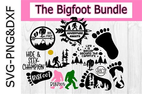 bigfoot svg bundle bigfoot silhouette  cricut sci fi  svgs design bundles