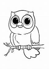 Owl Coloring Tulamama Animal Owls Drawing sketch template