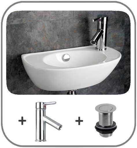 narrow wall mount sink space saving sink wall mounted basin cloakroom 44cm x 23cm