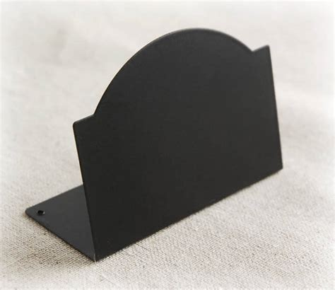 zinc chalkboard place cards