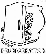 Refrigerator Coloring Pages sketch template