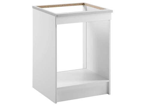 meuble bas 60 cm four plaque spoon shiny blanc conforama