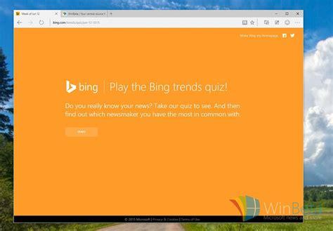 Bing Trends Quiz