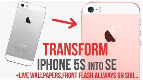 Transform Iphone 5s Into Se / Add Live Wallpapers / Siri Always On / Front Flash / Jailbreak Iphone 5c Ios Compatibility Trade In 6s Plus Vs Se Hard Reset Yellow Screen Online Ifixit Quality