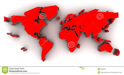 red world map royalty  stock  image