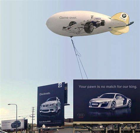 mercedes vs bmw ads the historic bmw vs audi billboard ad war in pictures