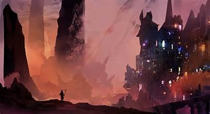 Digital Deviantart Fantasy Artwork Cityscape Computer Landscape