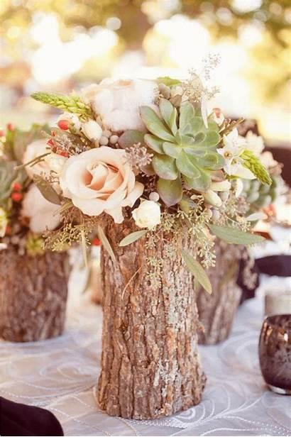 Flower Arrangement Vases Log Woodsy Arrangements Rustic