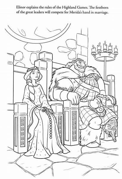 Coloring Pages Brave Disney Merida Royalty Printable