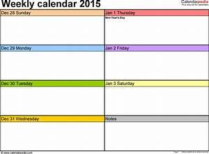 printable weekly calendars 2017 printable calendar With calandar template