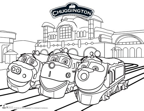 chuggington coloring pages adventures of a of trainees chuggington 17