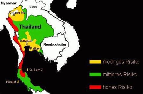 Dengue Fieber Thailand Karte